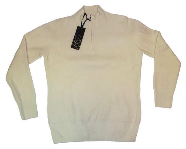Enzo mantovani womens cashmere mock neck waffle pattern for Enzo mantovani
