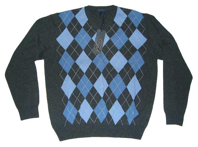 Enzo mantovani mens v neck argyle cashmere sweater nwt ebay for Enzo mantovani