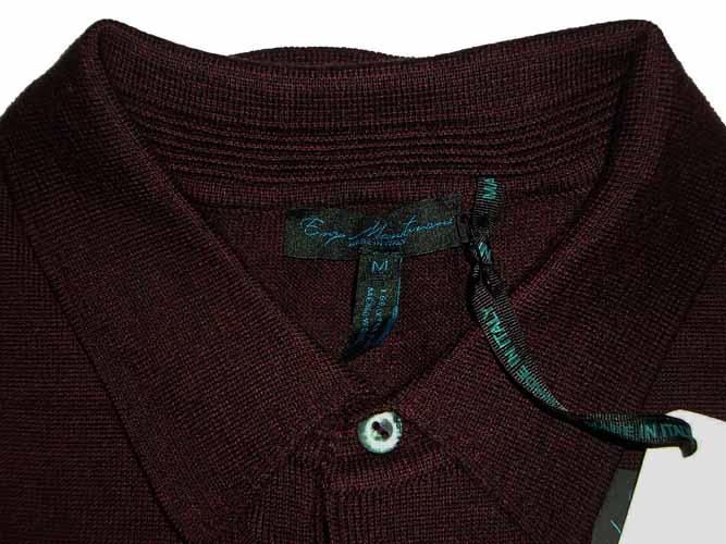 Enzo mantovani mens 3 button long sleeved polo sweater for Enzo mantovani