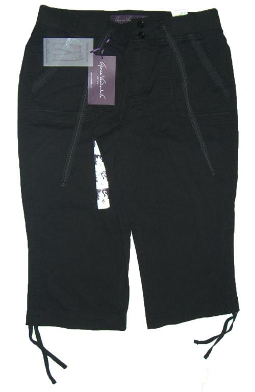 Gloria Vanderbilt Womens Angelina Black Casual Skimmer Capri Pants ...