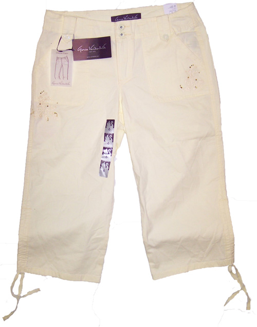 Gloria Vanderbilt Womens Tyra Casual Capri Pants, SunnySide Color ...