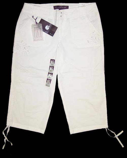 Gloria Vanderbilt Womens Tyra Casual Capri Pants, Whipped Cream ...