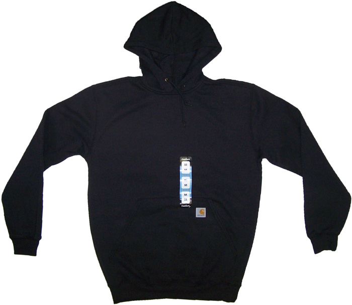 Details about Carhartt Mens K121 Midweight Pullover Hoodie Black NWT