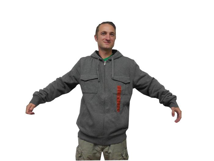 O'Neill Men's Timber Hooded Insulated Zip Up Sweatshirt Hoodie NWT Heather Gray