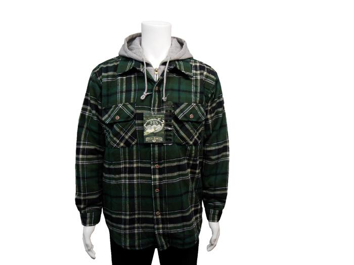 Flannel Hooded Jacket